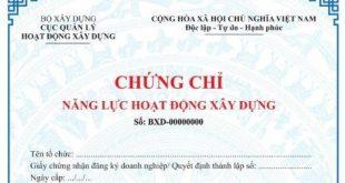 Làm chứng chỉ xây dựng tại Nha Trang