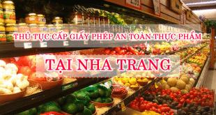 Thủ tục cấp giấy phép vệ sinh an toàn thực phẩm tại Nha Trang