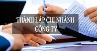 thành lập chi nhánh công ty TNHH 1 thành viên giá rẻ