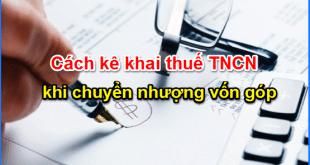 Cách tính thuế khi chuyển nhượng vốn công ty TNHH